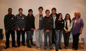 group shot of the young people who made EU4U and Jean