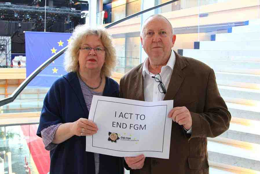 Jean and Keith pledge to act to end FGM