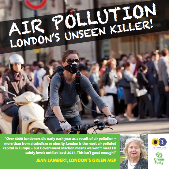 Cover of Jean's leaflet on air pollution in London
