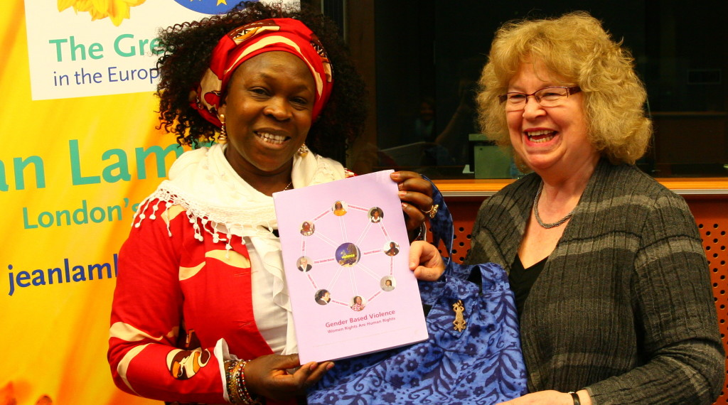 Jean with Virginia Wangare Greiner, Vice-Chair of the European Network of Migrant Women