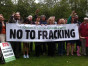 Jean Lambert, Caroline Lucas, and local anti-fracking activists in Croydon
