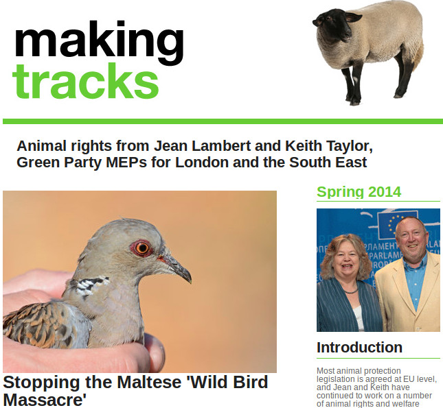 Making Tracks Spring 2014 cover