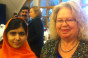 Jean with Malala Yousafzai in the European Parliament
