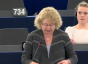 Jean Lambert speaking in Strasbourg