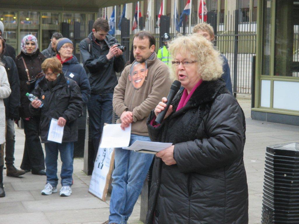 Jean speech at Guantanamo demonstration outside American Embassy