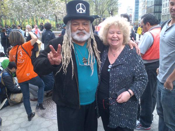 At CND rally in New York with George Paz martin