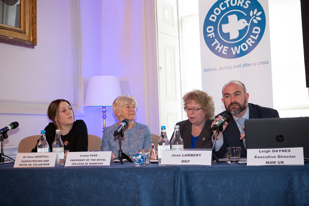 Jean on panel at press conference to launch new report on health
