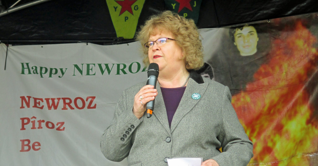 Jean addresses Newroz festival