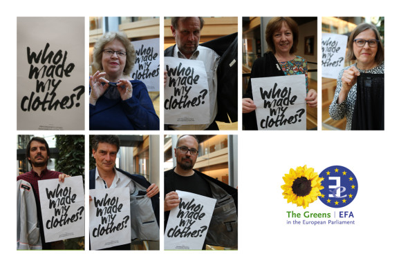 Green Members of the European Parliament ask 'Who made my clothes?'