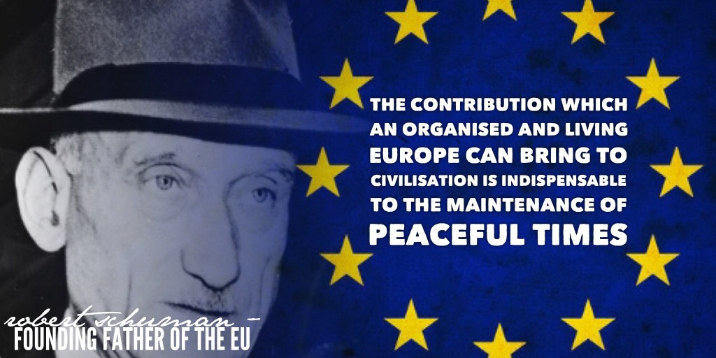 Europe Day Schuman quotation