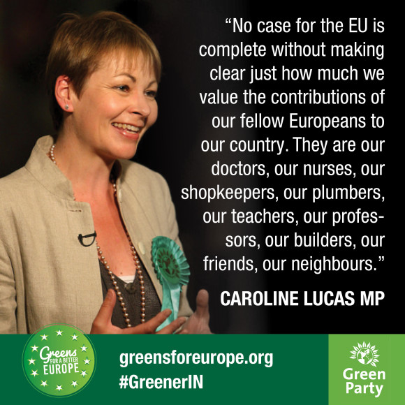 Freedom of movement quote from Caroline Lucas
