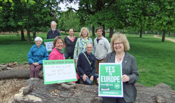 Campaigning for Greener In in Richmond Park