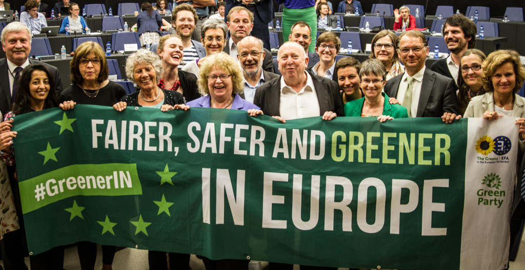 Green members of the European Parliament from across Europe