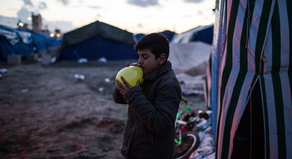 Photo from a report on unaccompanied children in northern France, by UNICEF.