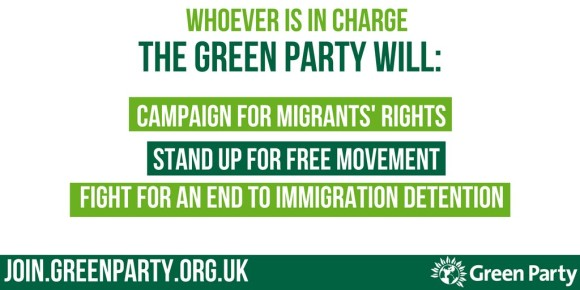The Green Party will campaign for migrants rights