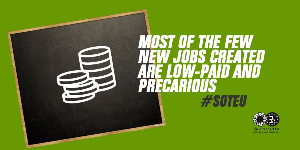 Most of the new jobs created are low-paid and precarious