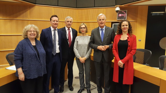 Jean with Barnier and EP citizens' taskforce